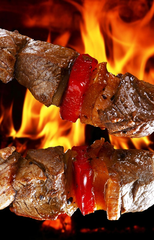 Lamb Kabob with Flames