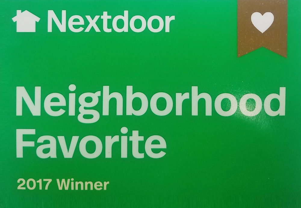 2017 Nextdoor Neighborhood Favorite award