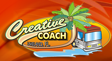 Creative Coach Collision Repair and Design Center in Lakeland, FL is an interior design company for motorhomes.