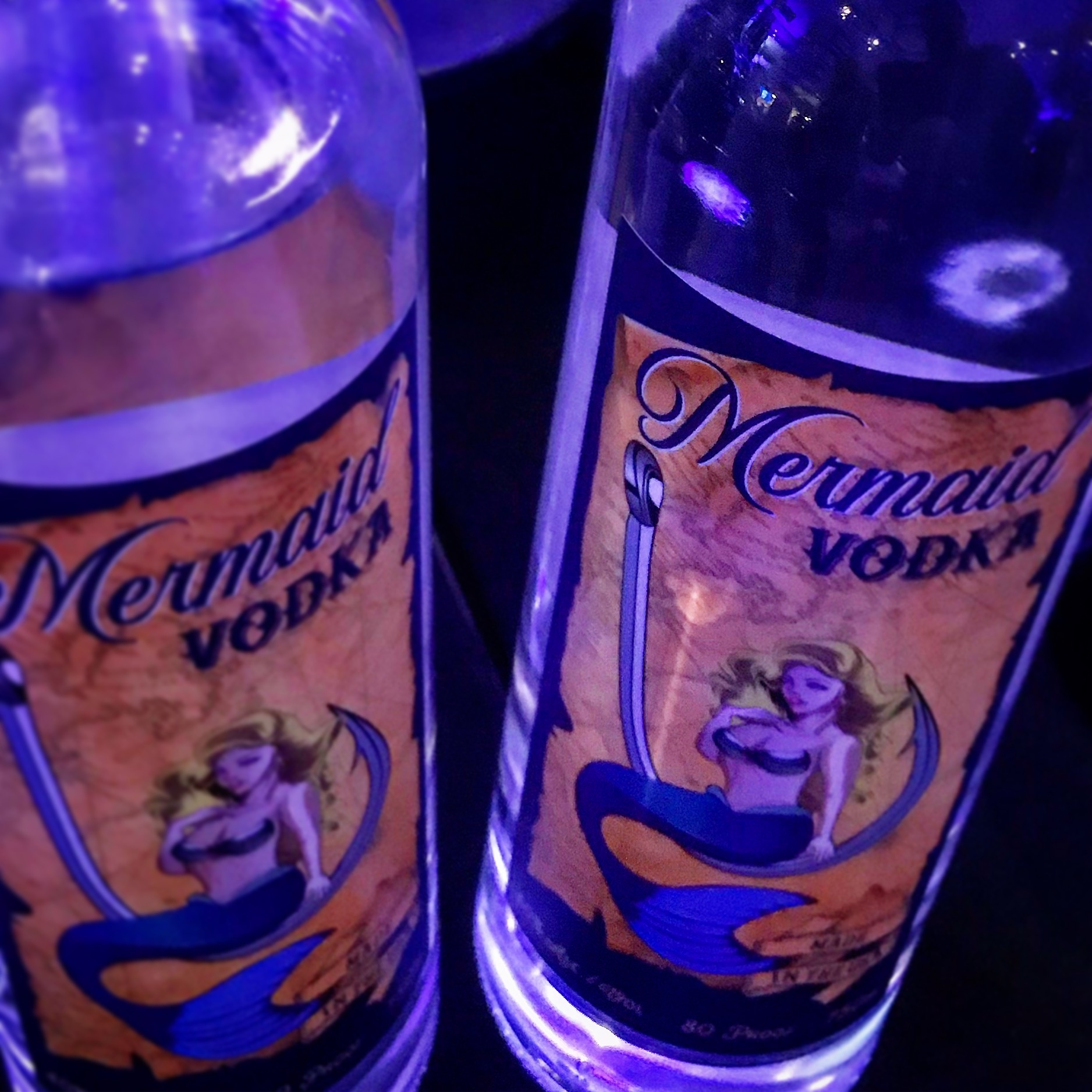 Mermaid Vodka Bottles
