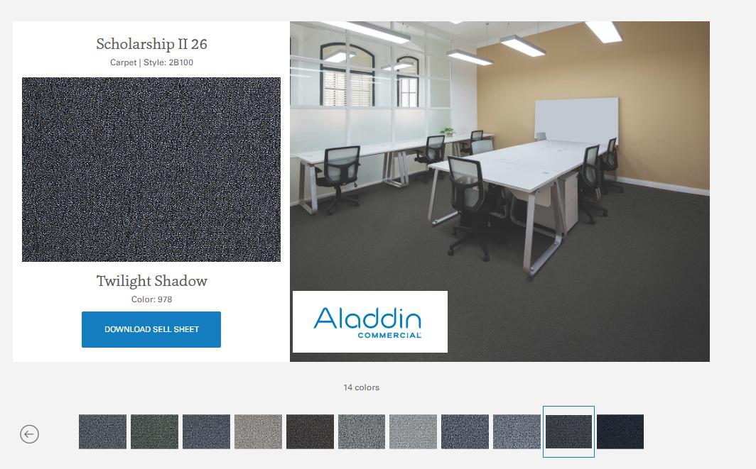 SCHOLARSHIP  alfombra argollada 100% Nylon .Tráfico Comercial Pesado.  Está respaldado por Mohawk productor y distribuidor líder mundial  de pisos de calidad.