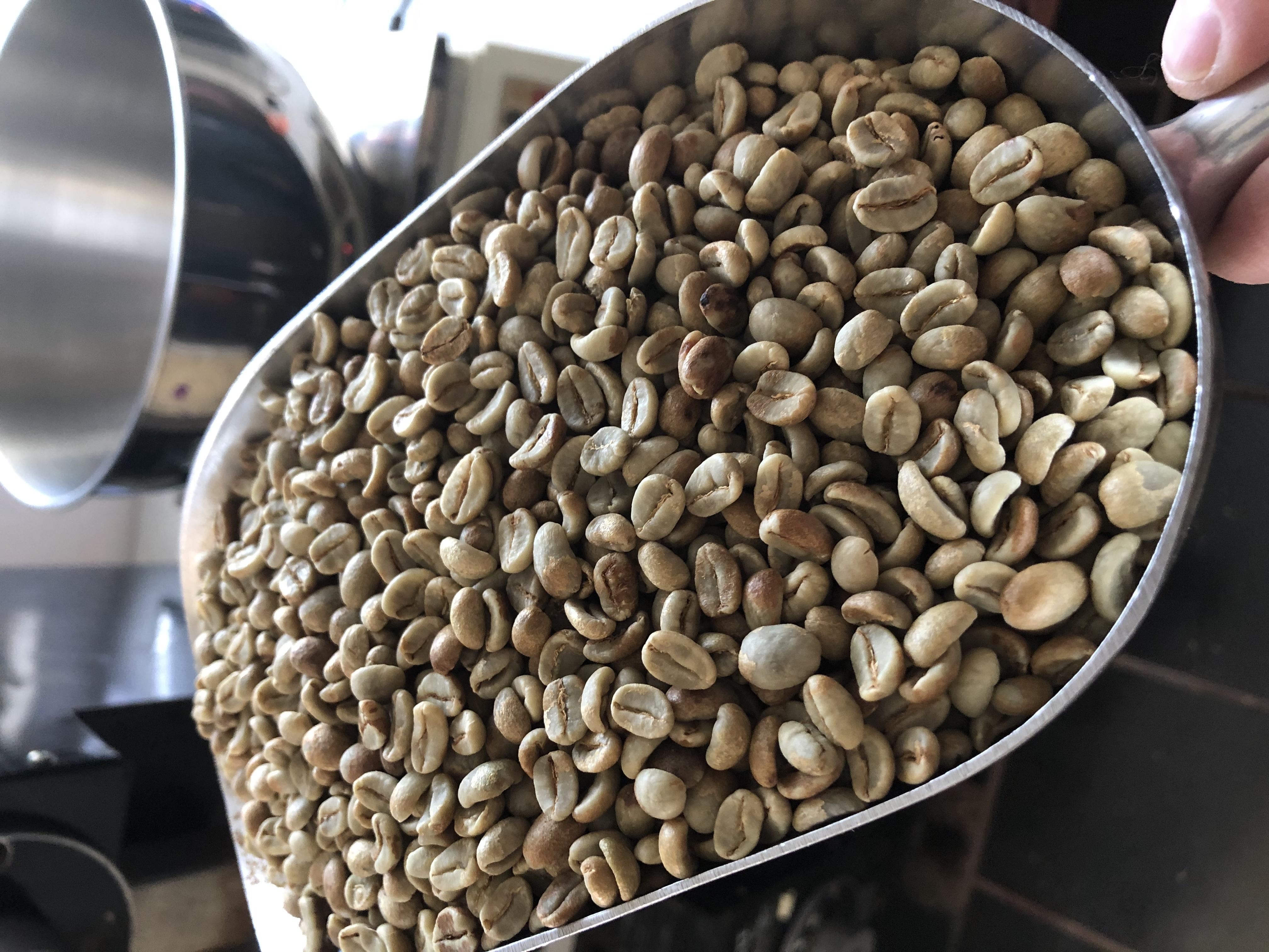 Bag of Guatemala coffee beans