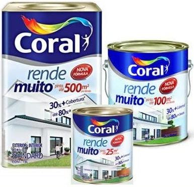 TINTA ACRÍLICA RENDE MUITO FOSCA STANDARD CORAL