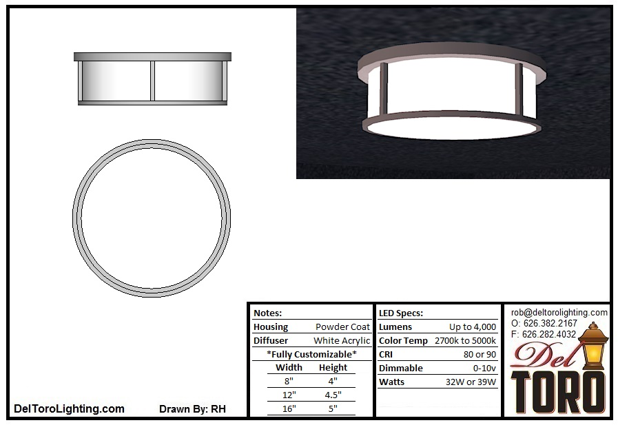 004C-Framed Puck Ceiling Mount