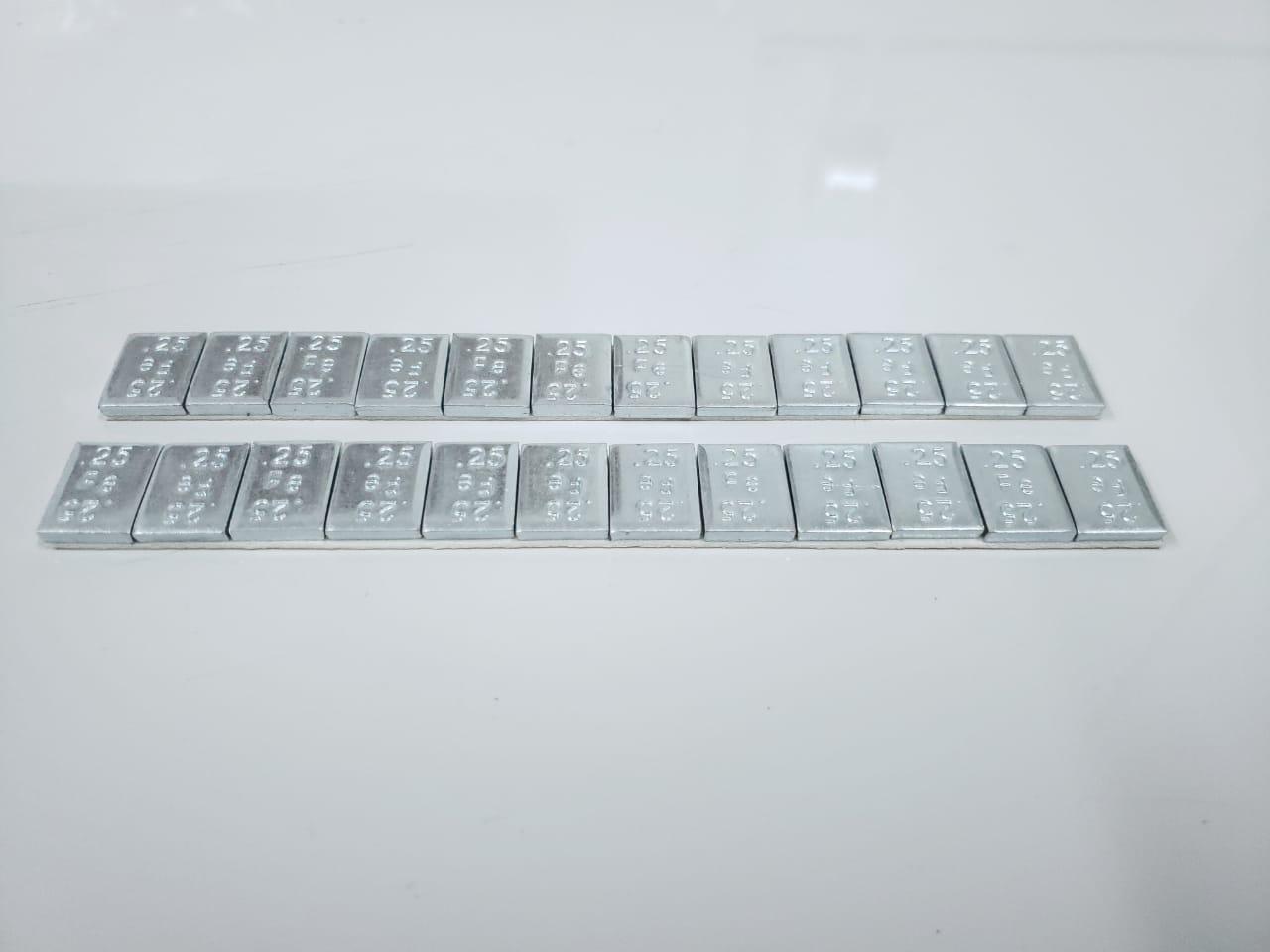 Barra adhesiva en fierro de 1/4 de oz en ancho de 19  mm