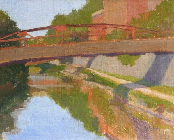 "Meg Walsh, Canal in Georgetown, 8"" x 10"" Oil"