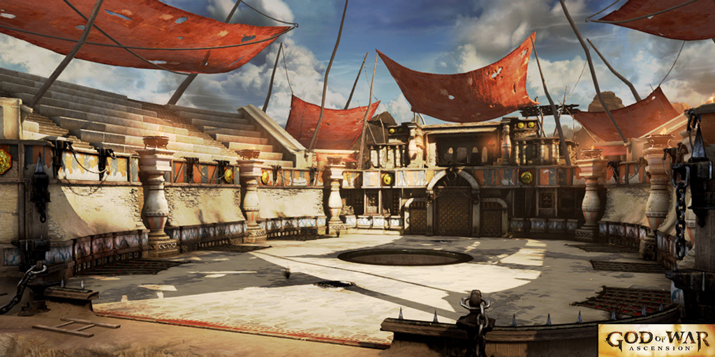 This is the Persia Multiplayer Map for God of War: Ascension. I  was responsible for environment assets, props, and the breakables.