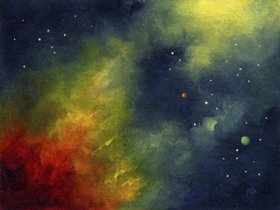 """Solar Flares ~ 6""""x8""""  Oil on canvas panel    SOLD"""