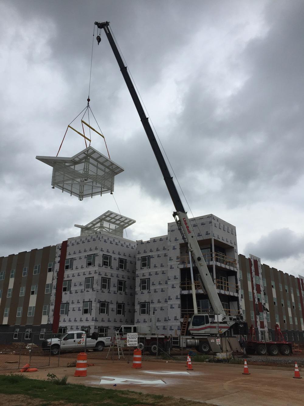 Steel Structure Installation Job