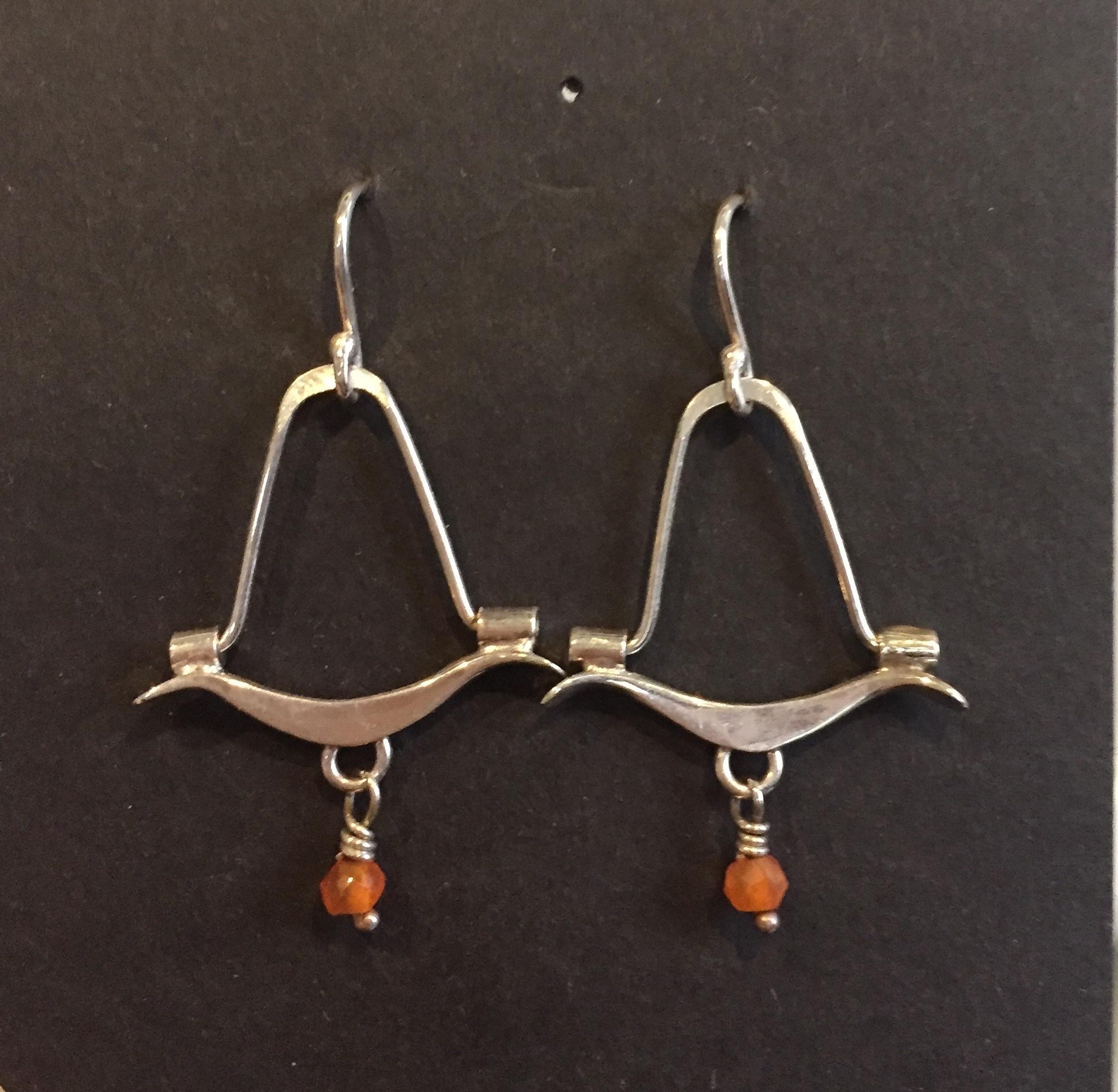 Carnelian Earrings sterling and carnelian $65.