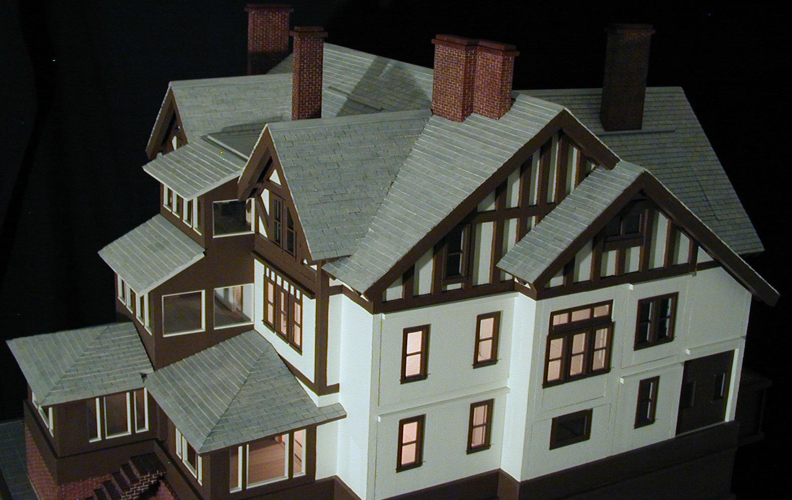Six Bedrooms, Seven Bathrooms;  10,000 hand cut wood roof pieces