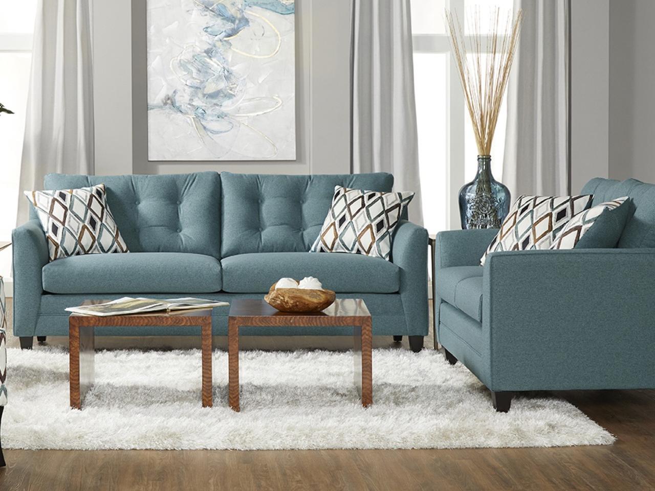 Serta 11900 Sofa and Love Seat Wexler Splash