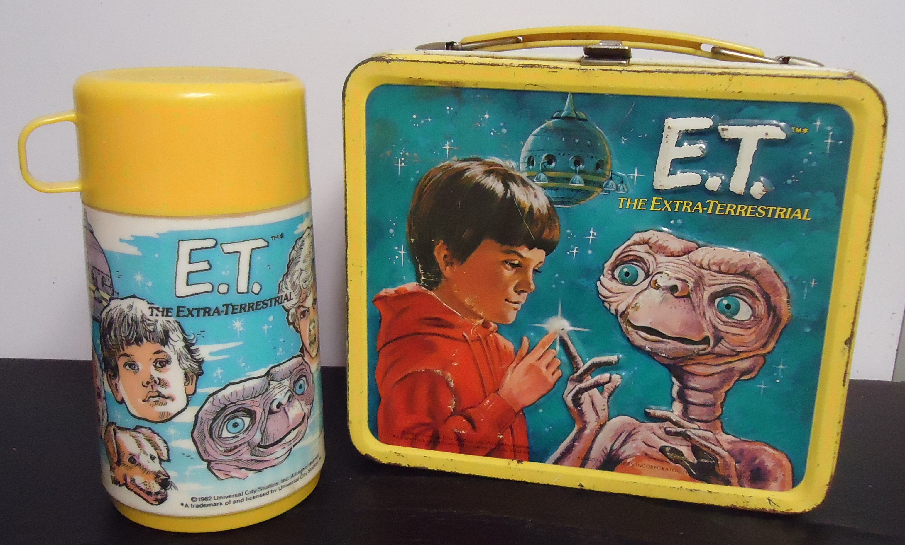 """(6) """"E.T."""" Metal Lunch Box W/ Thermos $50.00"""