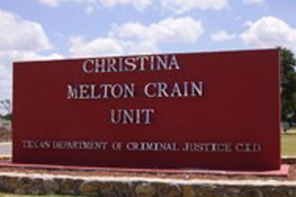 TX Women's Prison Crain Unit Sign