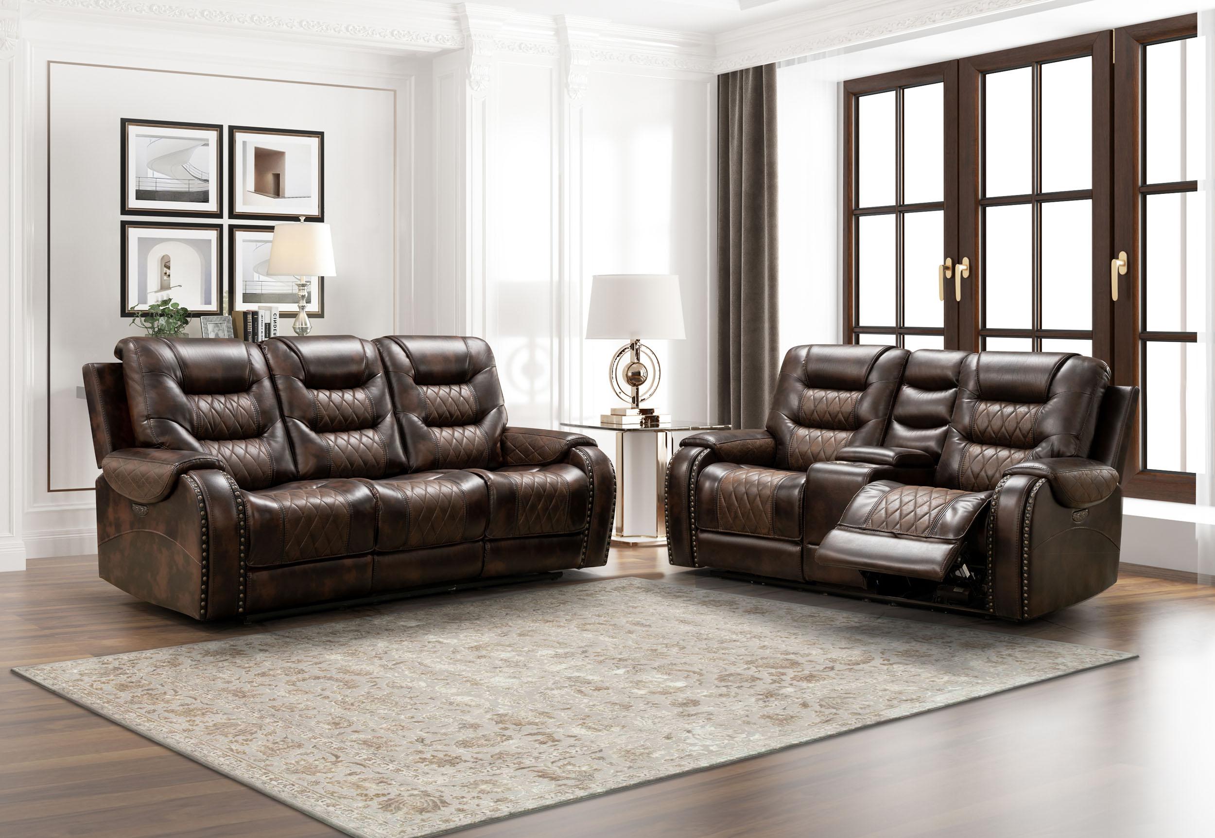 LRPX2895 Badlands Two Tone Reclining Living Room Set