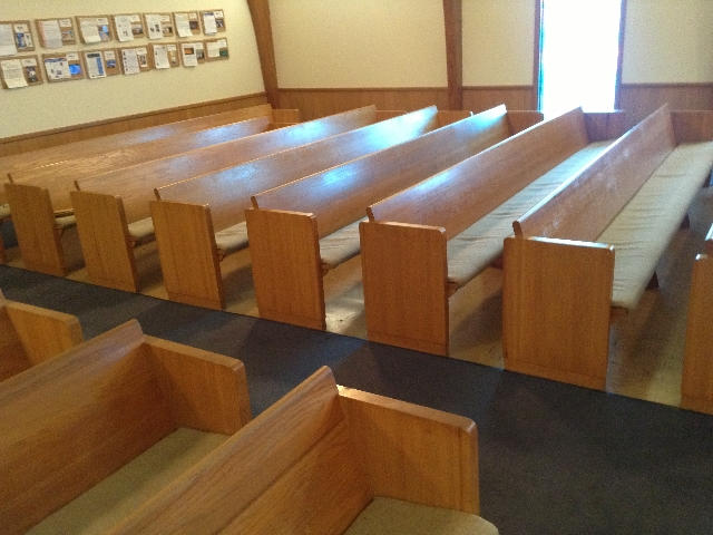 Piano Side Pews BEFORE