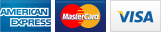 We accept American Express, MasterCard and Visa.||||