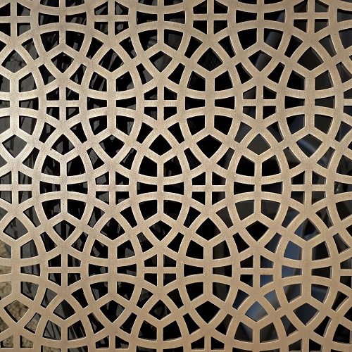 Thermal metal coating bronze finish AM.7 decorative grille.