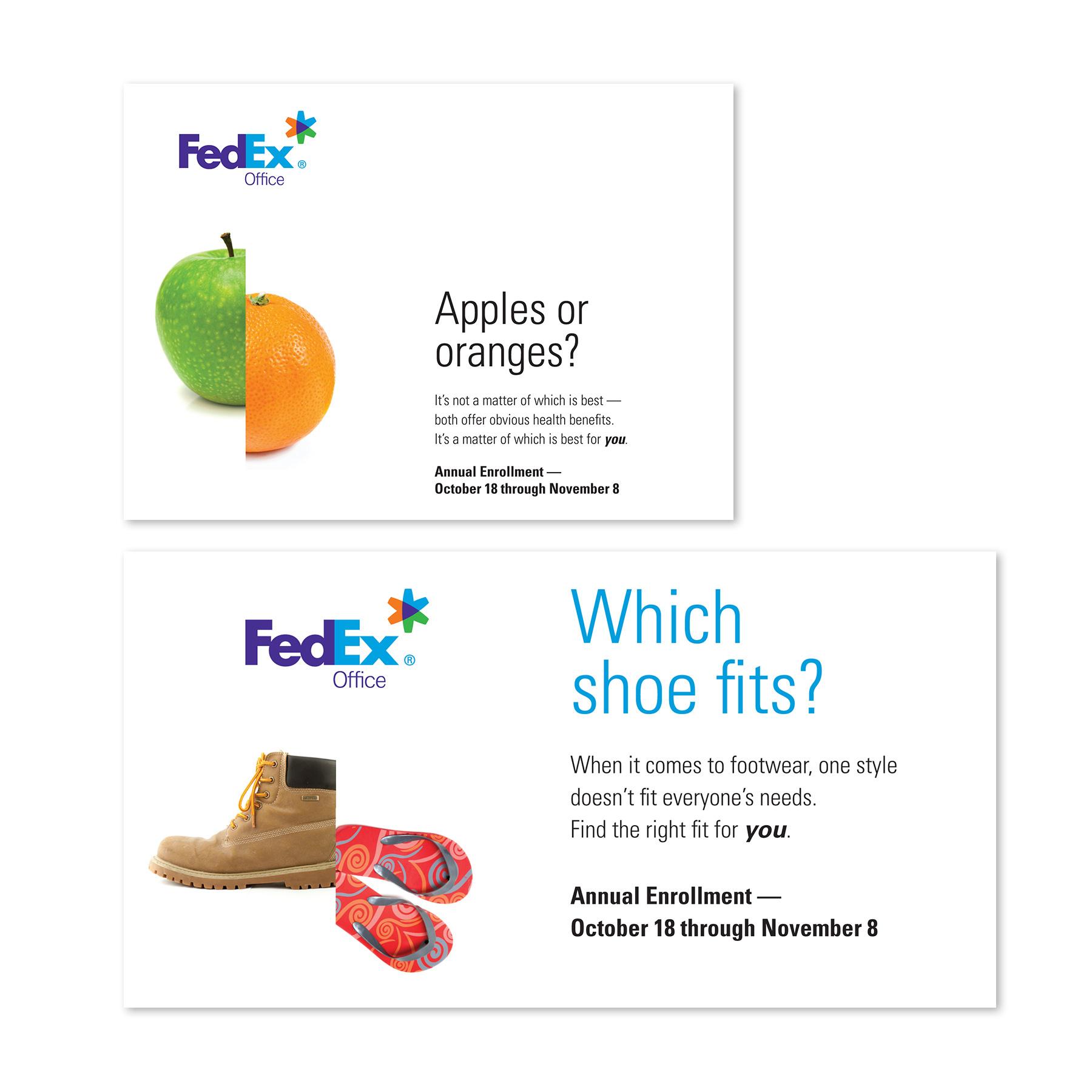 FedEx Open Enrollment Postcard & Paycheck Stuffer