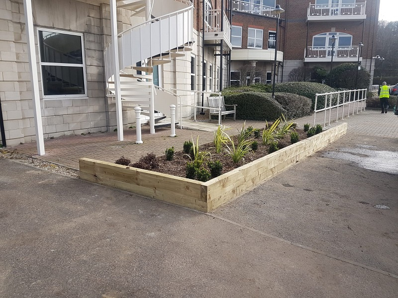 After photo of flower bed
