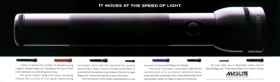 MagLite Flashlight Trade Ad