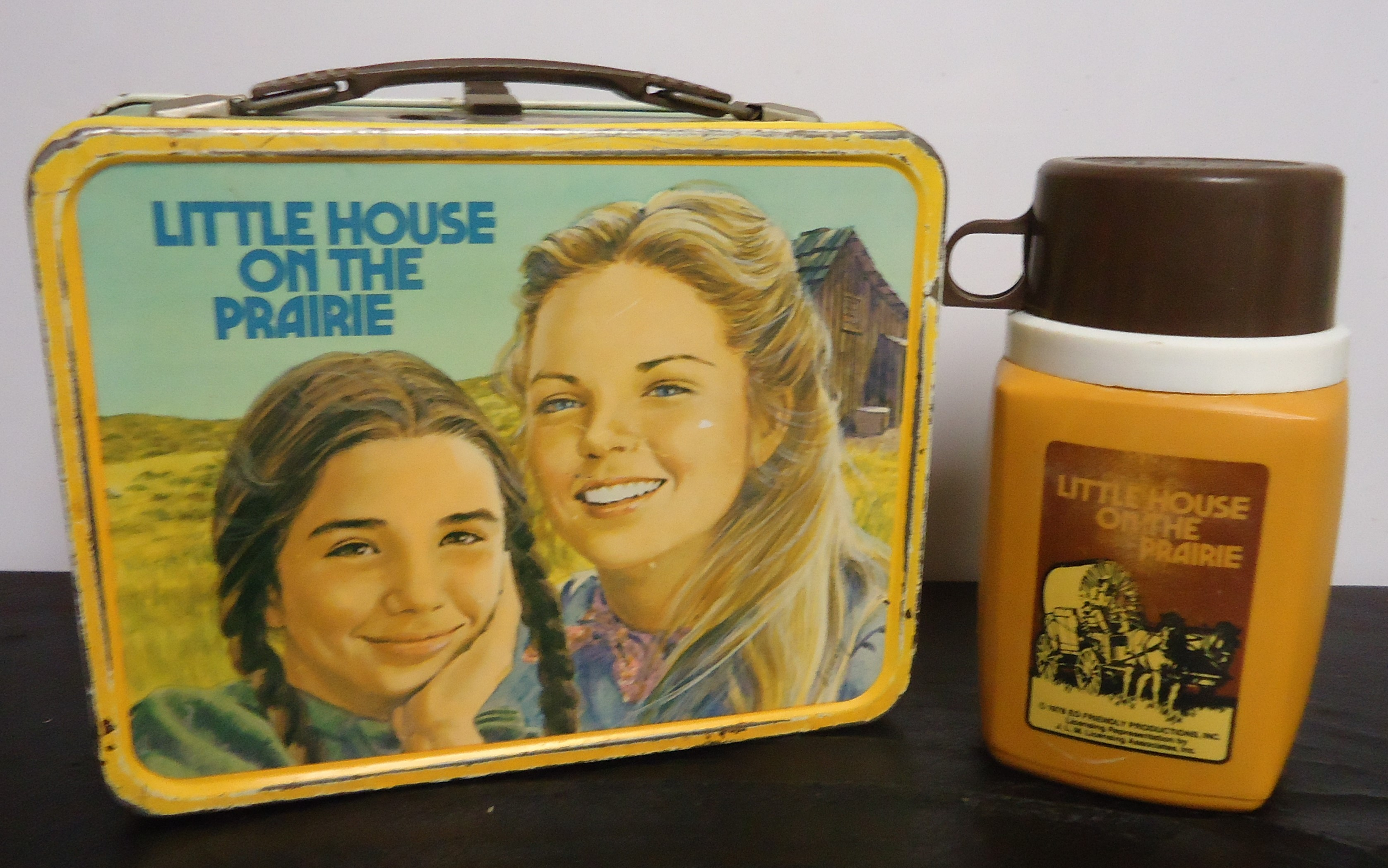 """(2) Metal Lunch Box W/ Thermos """"Little House On The Prairie"""" $135.00"""