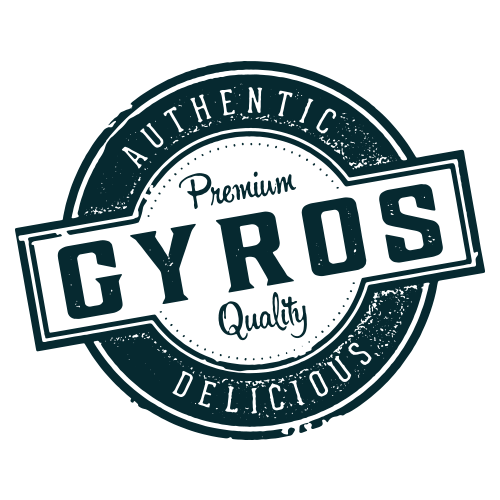 Authentic Greek Gyro Menu Design Stamp