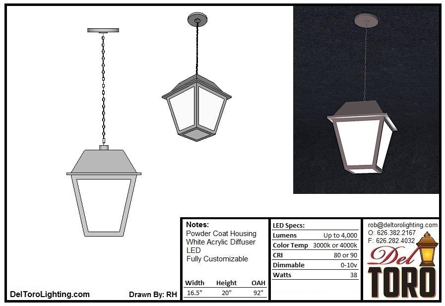 202P-Framed Lantern Pendant