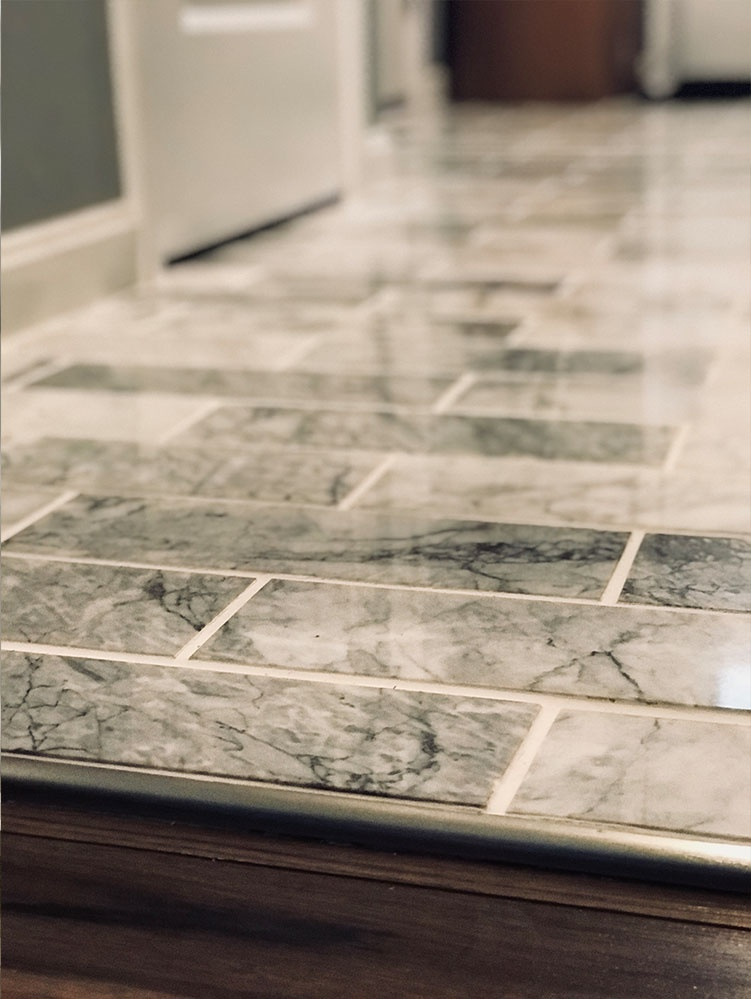 Foyer Marble Floor Remodeling