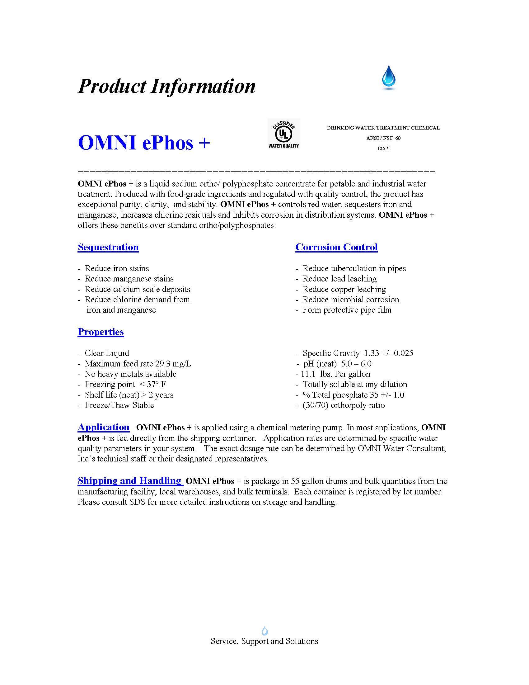 OMNI ePhos + Product Sheet