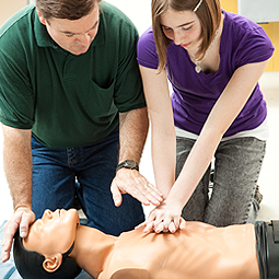 Instructor Guiding Student Practice CPR||||