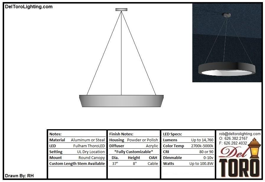 000P-MOD Angled Edge Round Blade Pendant