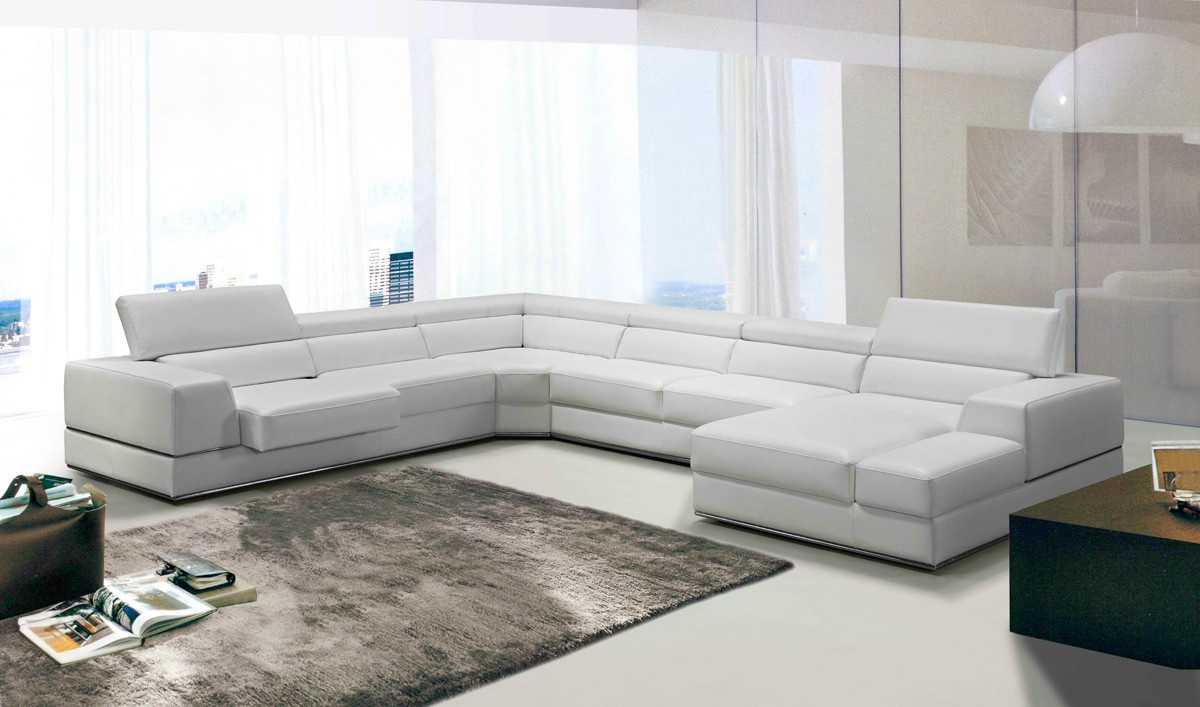 Divani Casa Sectional Available in Multiple Colors