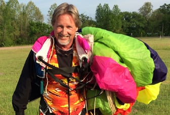 Lee With Green Parachute