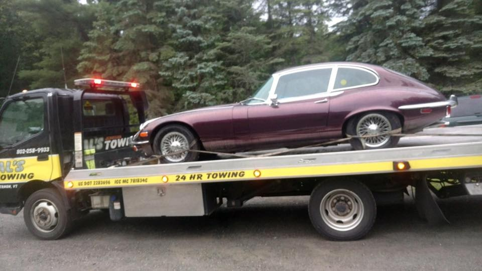 Towing a collectible Jaguar to North Carolina! We'll tow both local and long distances! Call us for a quote