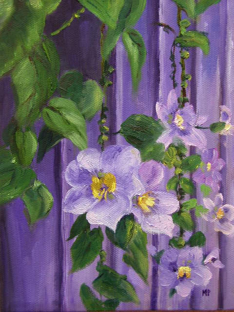 """Purple Delight - 6""""x 8"""" Oil on Stretched Canvas -SOLD"""
