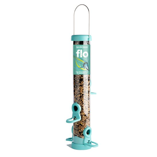 Jacobi Jayne 4 port feeder available in Aqua (shown) and Lime