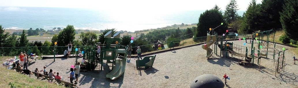 Children's Playground with the Pacific Ocean in the background