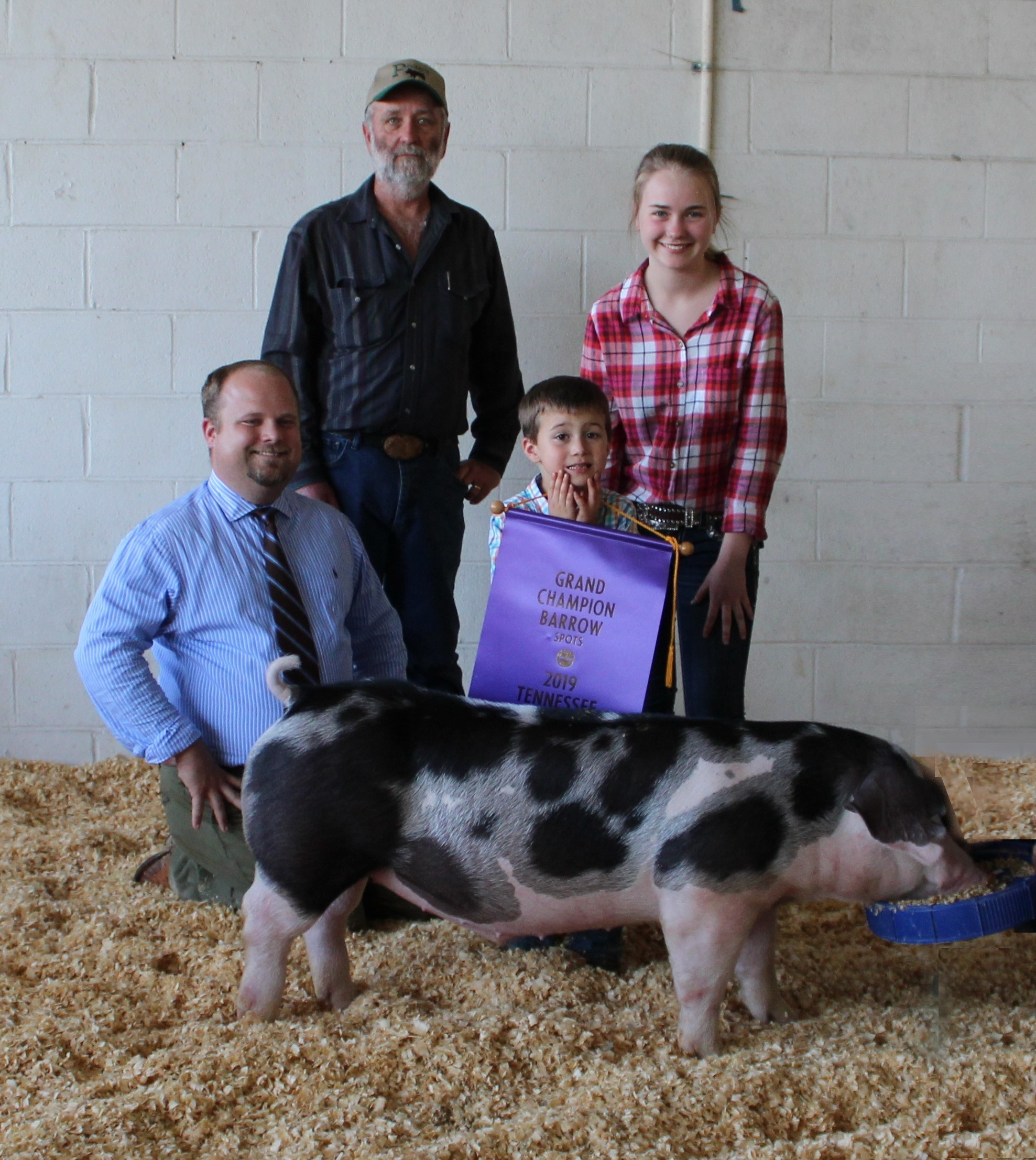 Hannah Sanders 2019 Tennessee State Fair Champion Spot Barrow