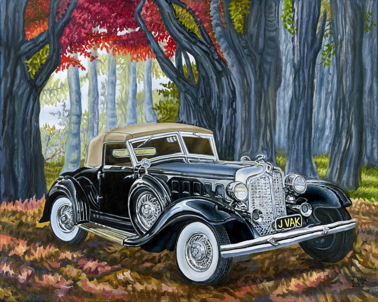 1932 Chrysler Imperial LeBaron         24 X 30 Original Oil                  $2800                    2015