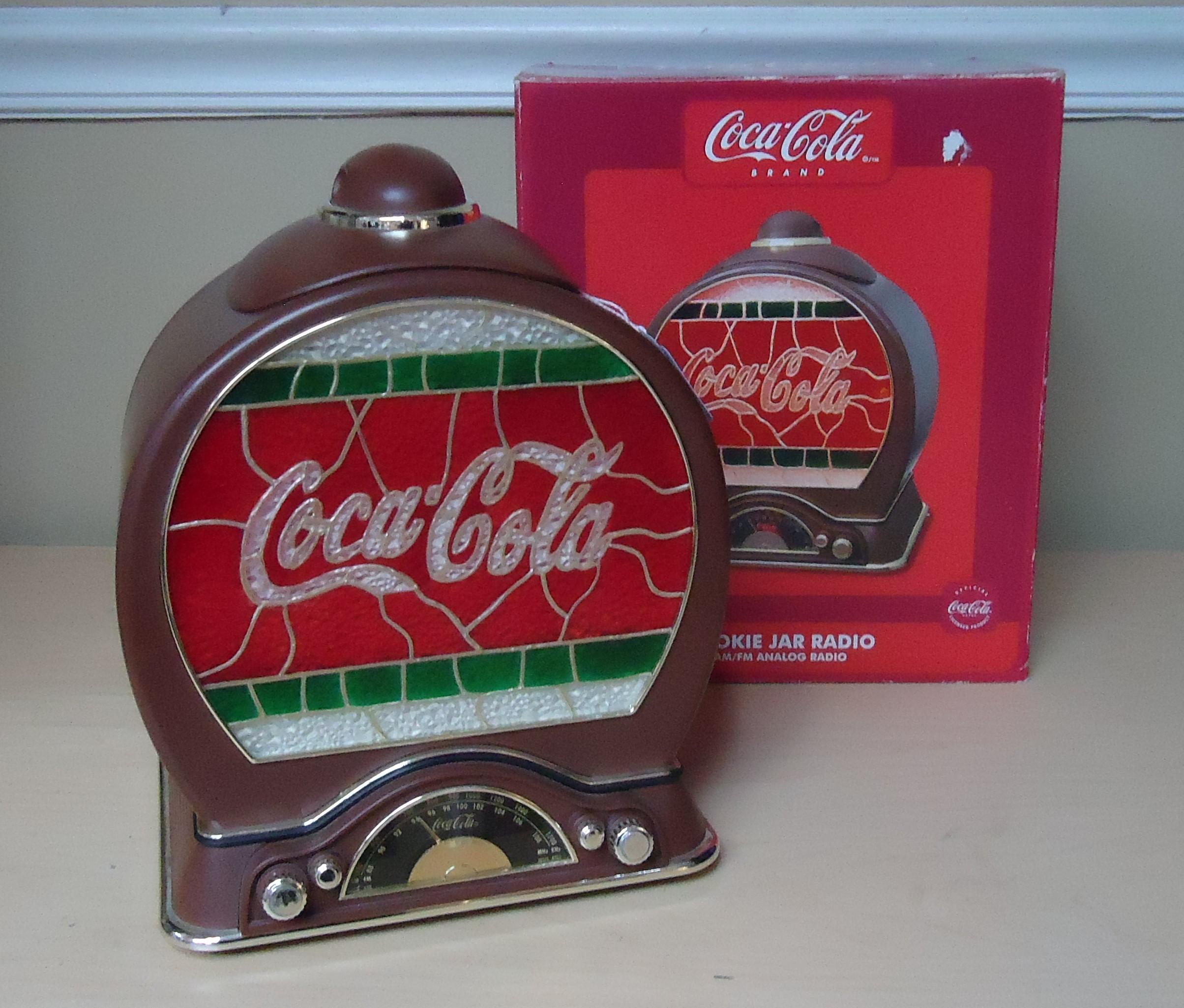 """(5)  """"Coke"""" Electronic Cookie Jar W/ Box $85.00"""
