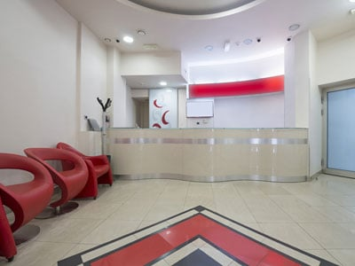 Modern Waiting Room with Reception Desk Reception