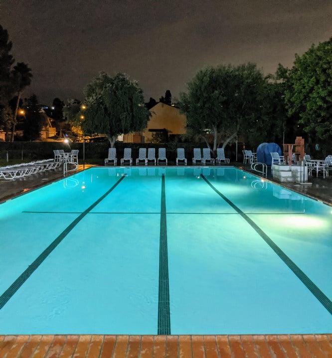 Evening at Deane Homes Swim Club