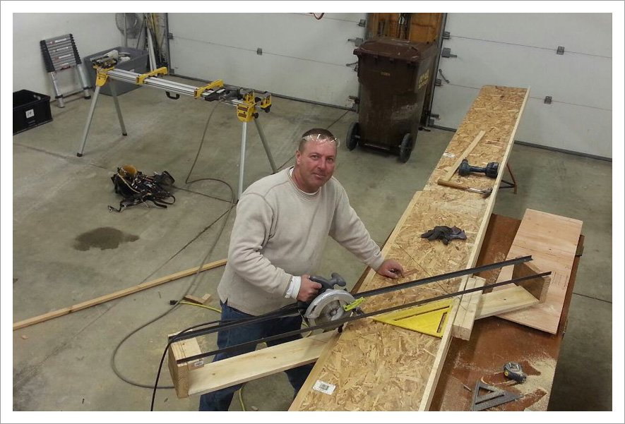 Remodeling contractor Dennis||||Custom made, 24 ft. multi-angle cut table. Built by Dennis at D & N Enterprise