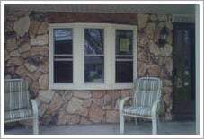Triple pane windows and wall    
