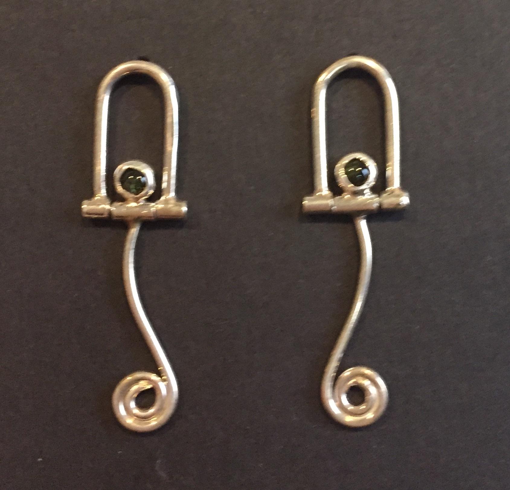 Green Tourmaline Earrings sterling and tourmaline $80.