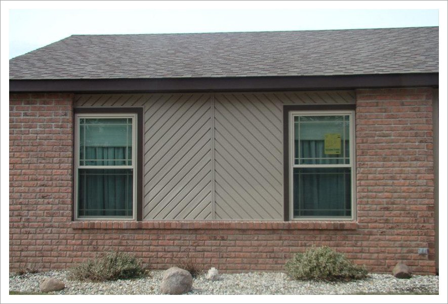 Angular siding and contrasting trim||||45 Degree Siding & Contrasting Trim Brings New Life To The Front Of This Home