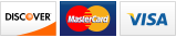 We accept Discover, MasterCard and Visa.||||