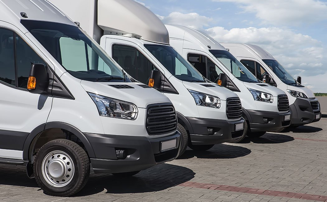 Commercial Vans In A Row
