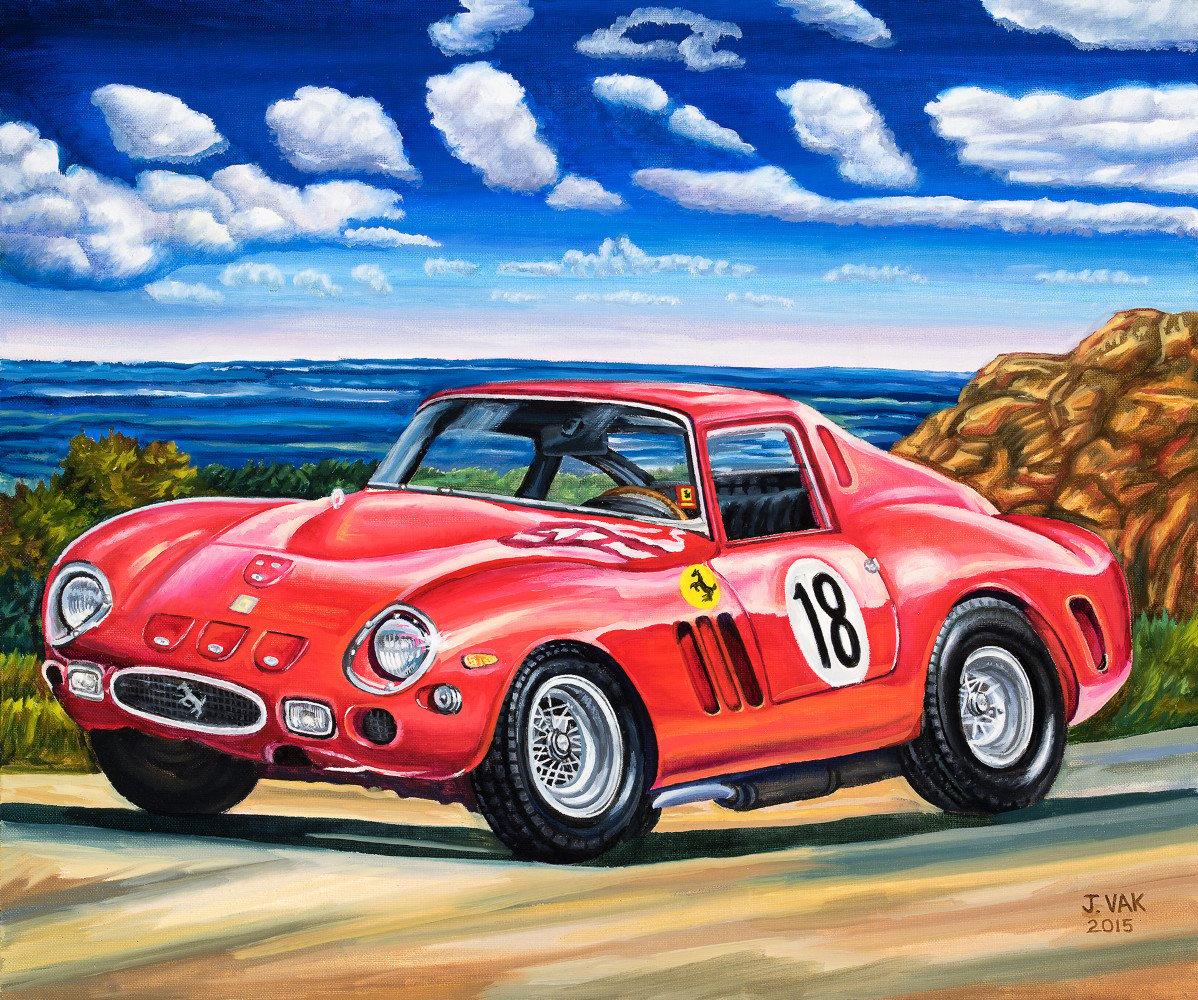 Ferrari 250 GTO, 1964   20 X 24 Original Oil            $2200             2015